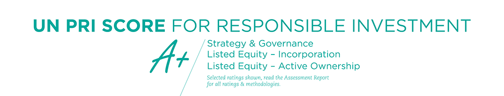 A+ UN PRI Score for responsible investment
